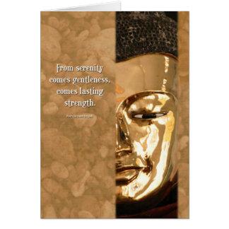 Cartão da inspiração da sabedoria da força da
