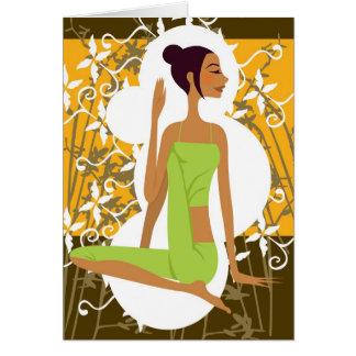Cartão da ioga