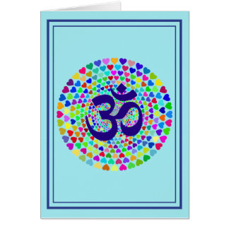 Cartão da ioga de OM da mantra, vertical