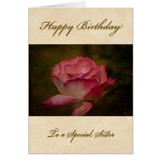 Cartão da irmã do feliz aniversario