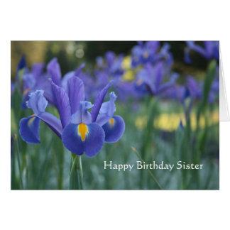 Cartão da irmã do feliz aniversario da íris