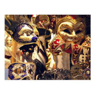 Cartão da janela da máscara do carnaval