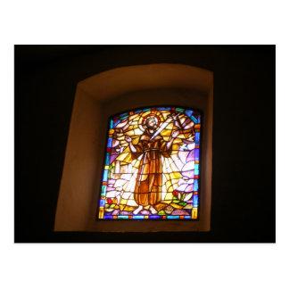 Cartão da janela de vitral