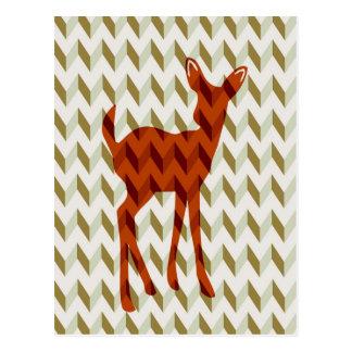 Cartão da jovem corça da floresta