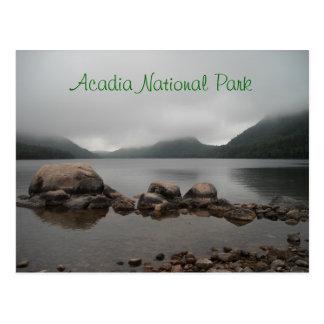 Cartão da lagoa de Parque-Jordão do Acadia