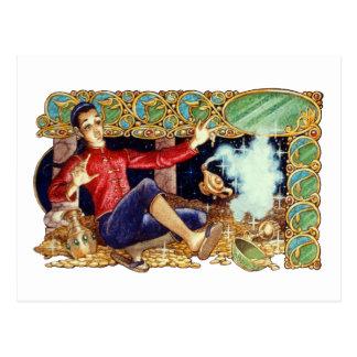 Cartão da lâmpada de Aladdin
