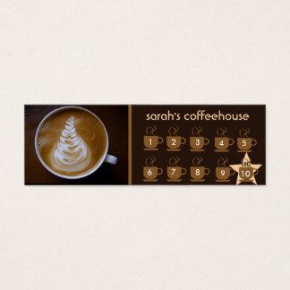 cartão da lealdade da cafetaria