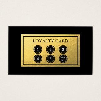 Cartão da lealdade da folha de ouro