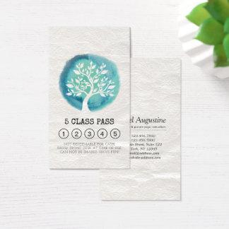 Cartão da lealdade da passagem da classe do
