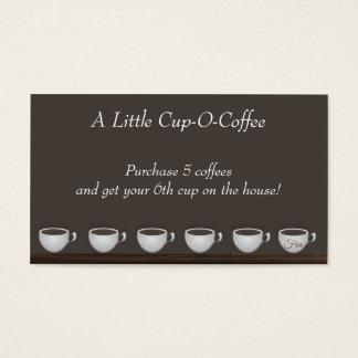 Cartão da lealdade das economias do café