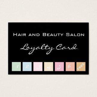 Cartão da lealdade do cabelo e do salão de beleza