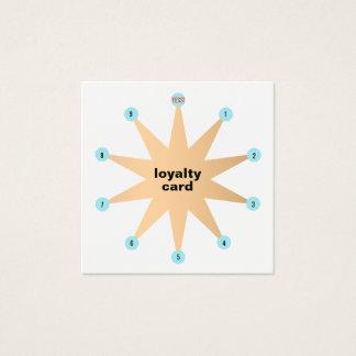 Cartão da lealdade do cliente da estrela de 10