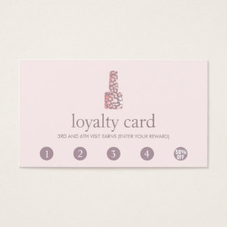 Cartão da lealdade do cliente do perfurador do