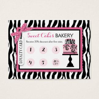 Cartão da lealdade do negócio da padaria do bolo