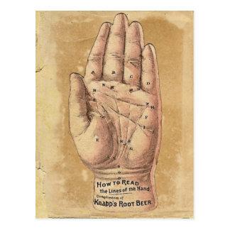 Cartão da leitura da palma