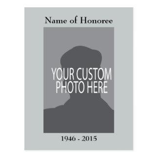 Cartão da lembrança da cerimonia comemorativa com