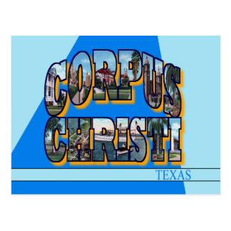 Cartão da letra de Corpus Christi Texas grande