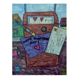 Cartão da letra de dia dos namorados cartao postal