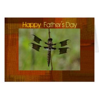 Cartão da libélula do dia dos pais