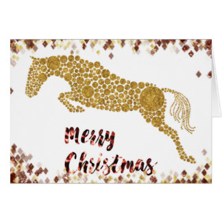 Cartão da ligação em ponte do ouro do Feliz Natal