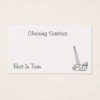 Cartão da limpeza