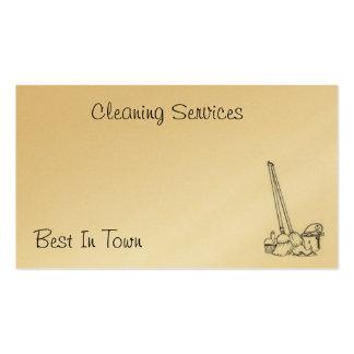 Cartão da limpeza cartão de visita