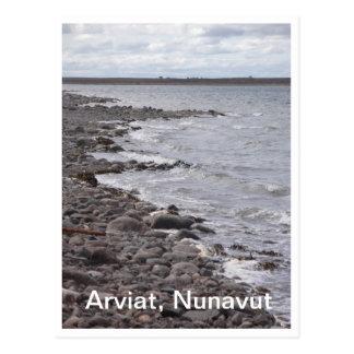 Cartão da linha costeira de Arviat Nunavut
