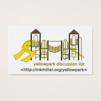 Cartão da lista de discussão de Yellowpark