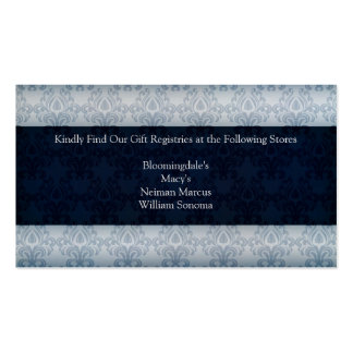 Cartão da lista de presentes do casamento do marin modelos cartoes de visitas