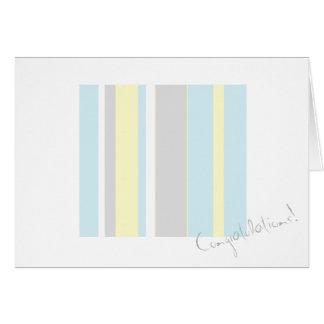 Cartão da listra das cores Pastel dos parabéns