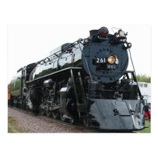 Cartão da locomotiva de vapor