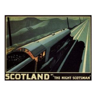Cartão da locomotiva de vapor do vintage