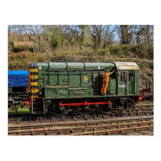 Cartão da locomotiva diesel