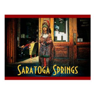 Cartão da loja de charuto de Saratoga