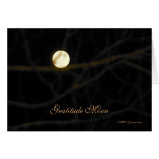Cartão da lua da gratitude
