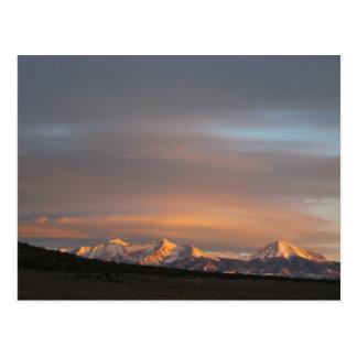 Cartão da luz da manhã do Mt. Lindsey