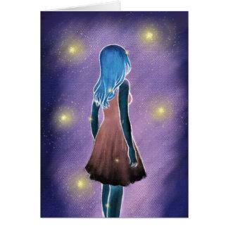 Cartão da luz das estrelas
