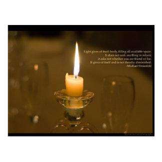Cartão da luz de vela