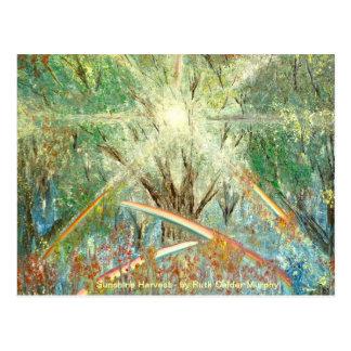 Cartão da luz do sol