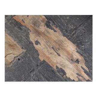 Cartão da madeira das cinzas fumarentos