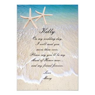 Cartão da madrinha de casamento do casamento de convite 12.7 x 17.78cm