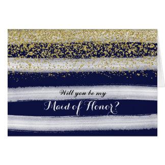 Cartão da madrinha de casamento do ouro e do