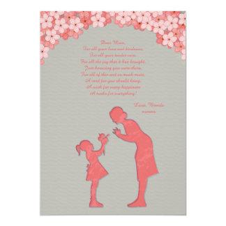 Cartão da mãe e da filha convite 12.7 x 17.78cm