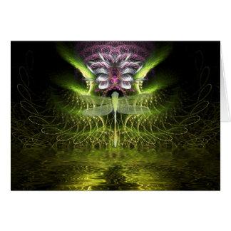 Cartão da mágica da libélula