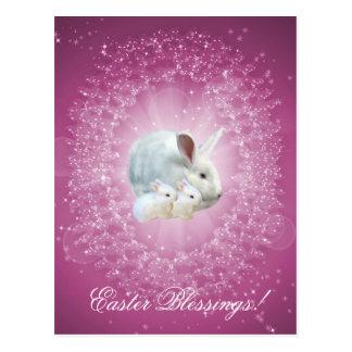 Cartão da mágica do coelhinho da Páscoa Cartão Postal