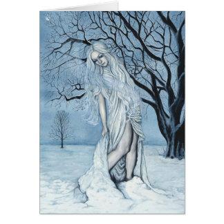 Cartão da mágica do inverno