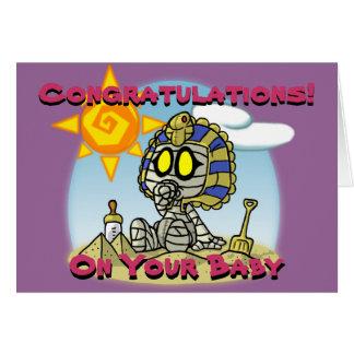 Cartão da mamã do bebê