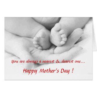 Cartão da mamã do bebê n