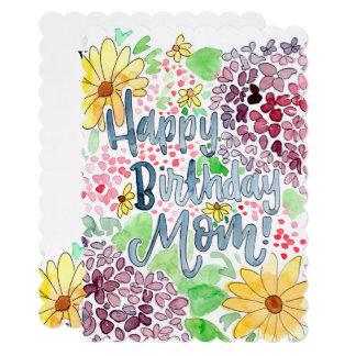 Cartão da mamã do feliz aniversario