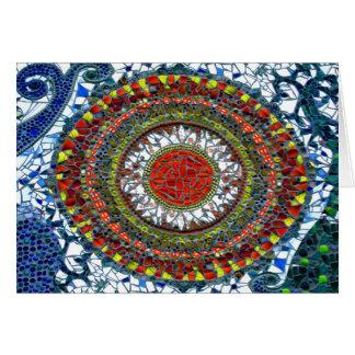 Cartão da mandala 1 do mosaico